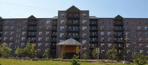 main entrance image of the Litchfield apartment building in Clayton Park Halifax