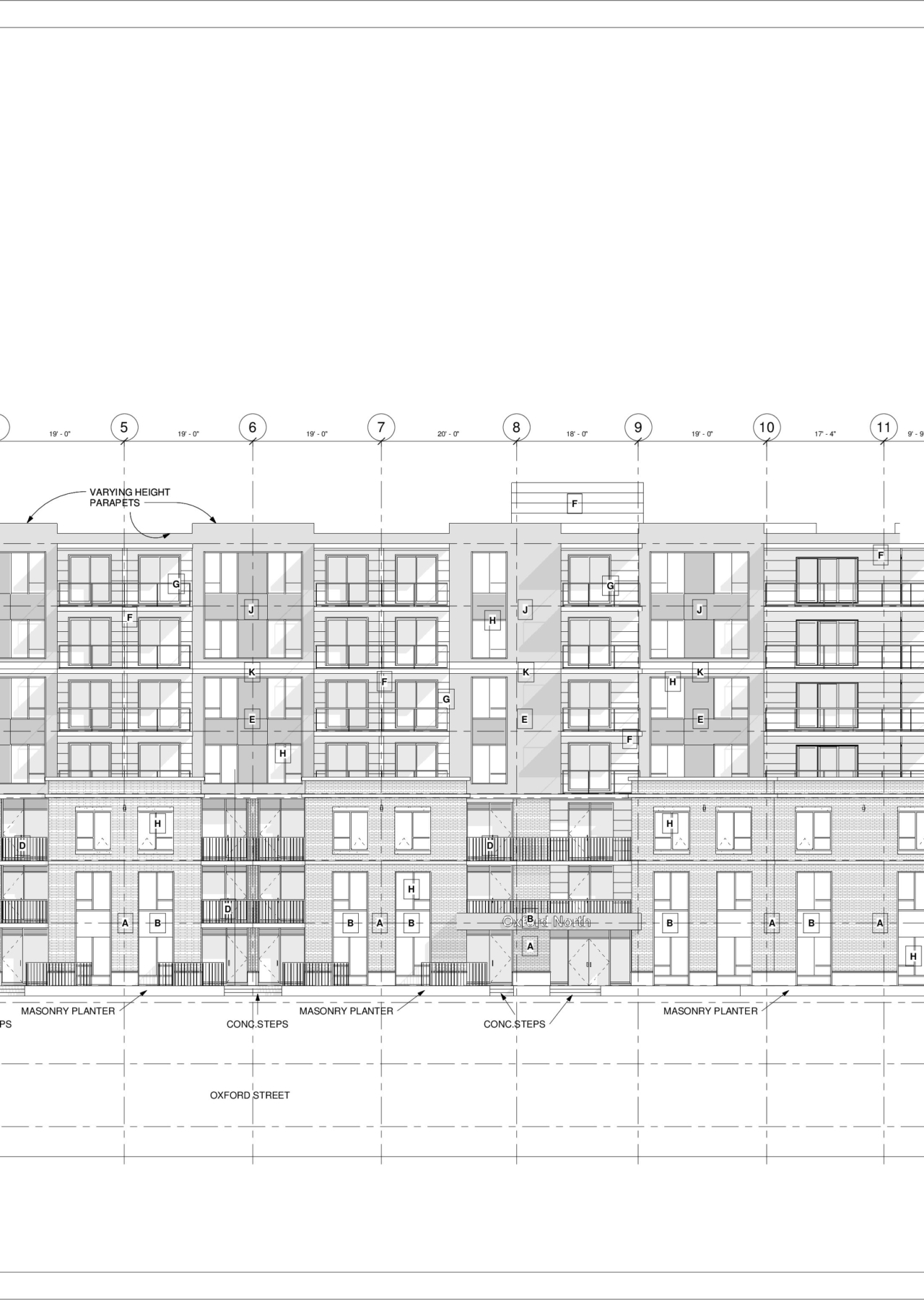3093 Oxford – North – Sheet – A4-0 – South Elevation