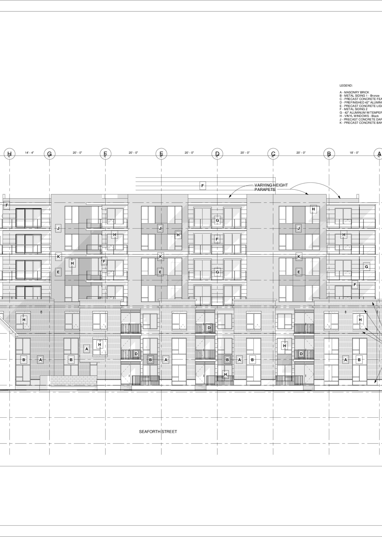 3093 Oxford – North – Sheet – A4-2 – West Elevation
