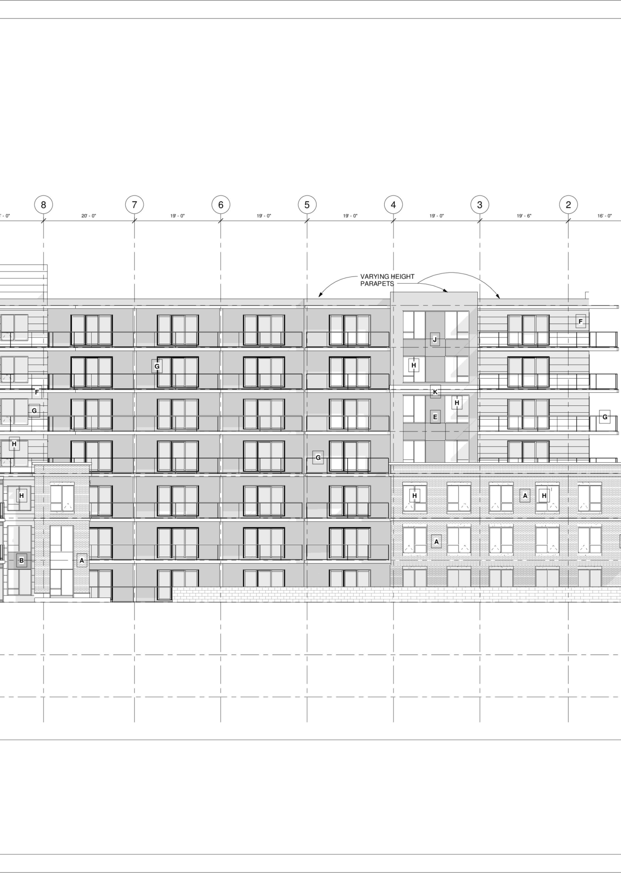3093 Oxford – North – Sheet – A4-3 – North Elevation